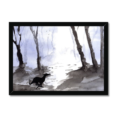 Greyhound Framed Prints - 'Mystical Woods'