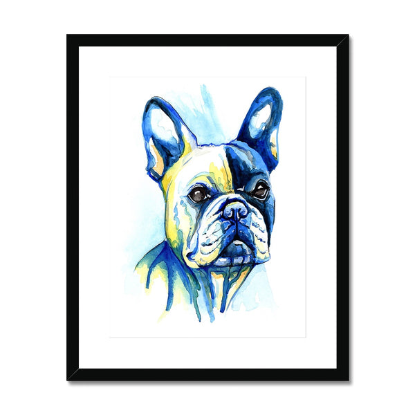 French Bulldog Framed & Mounted Print - 'Handsome Chap'