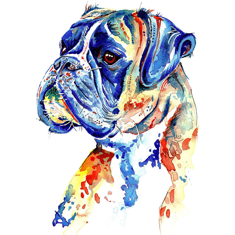 boxer dog art prints