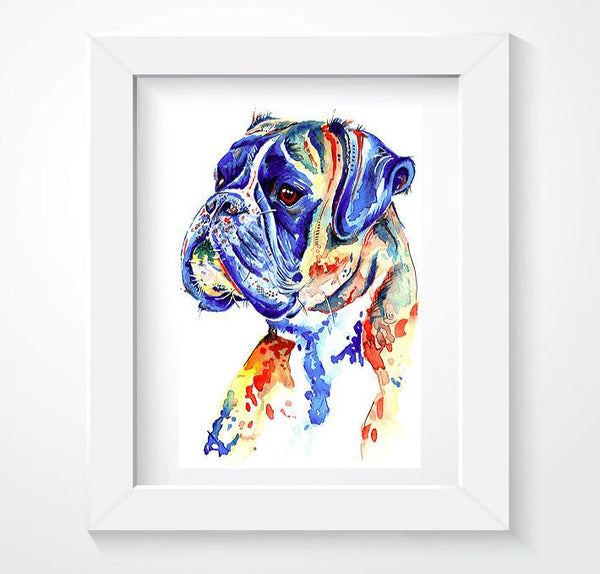 Boxer Dog Art Prints, Gifts