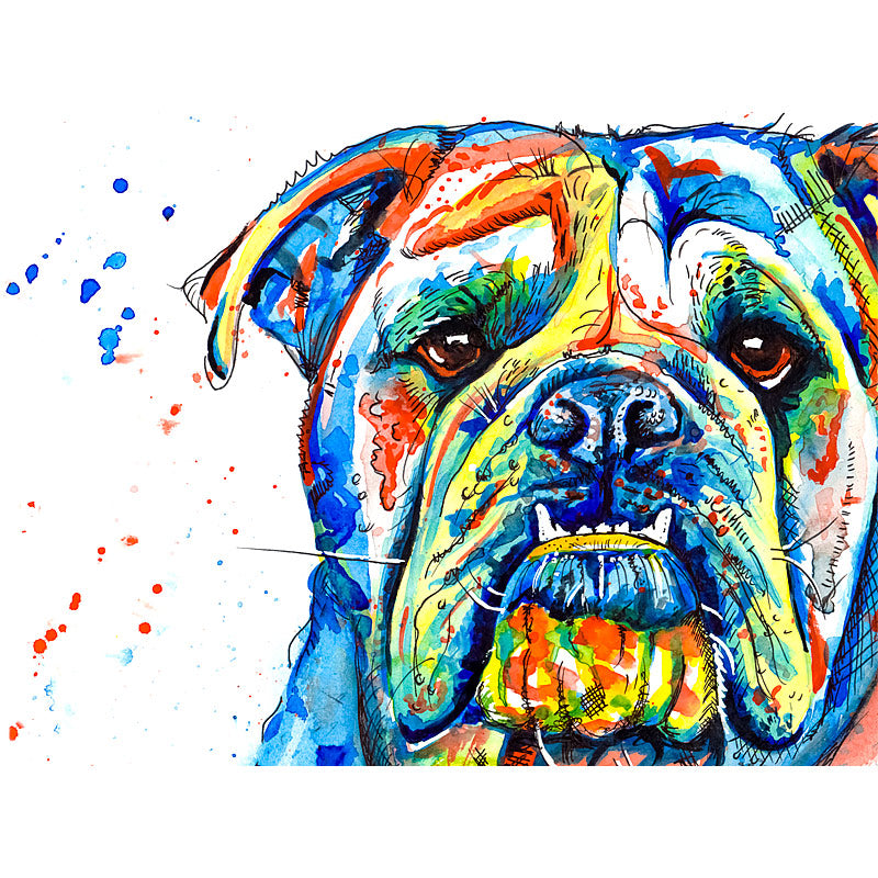 british bulldog art prints