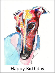 birthday cards greyhound whippet