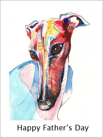 Whippet Fathers Day Card