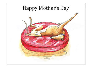 Mother's Day Card Lurcher