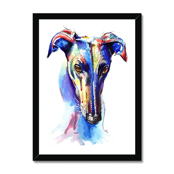 Framed Whippet Art Prints