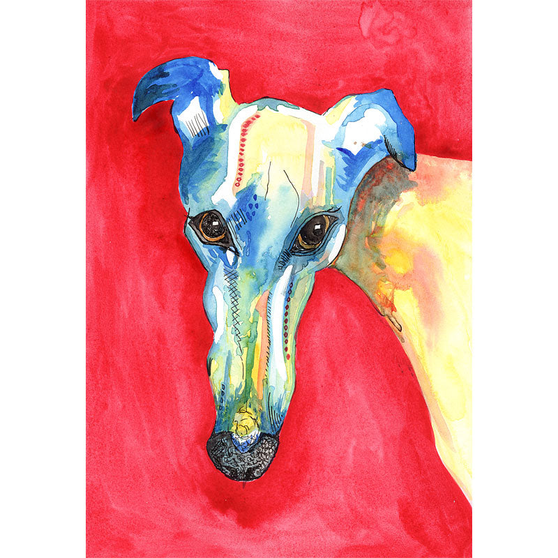Greyhound art print