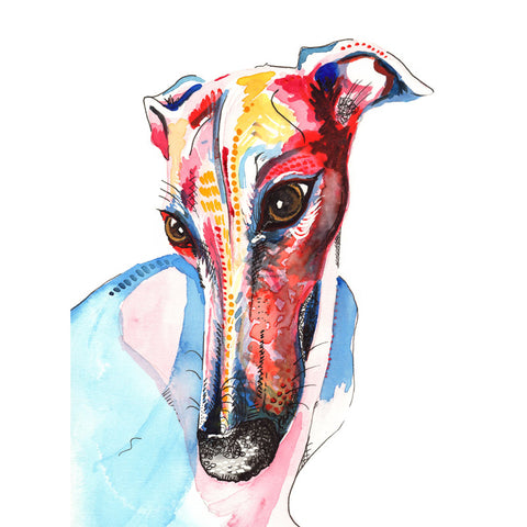 greyhound whippet lurcher art print