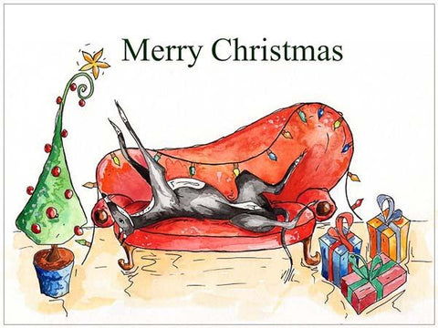 Lurcher Christmas Cards
