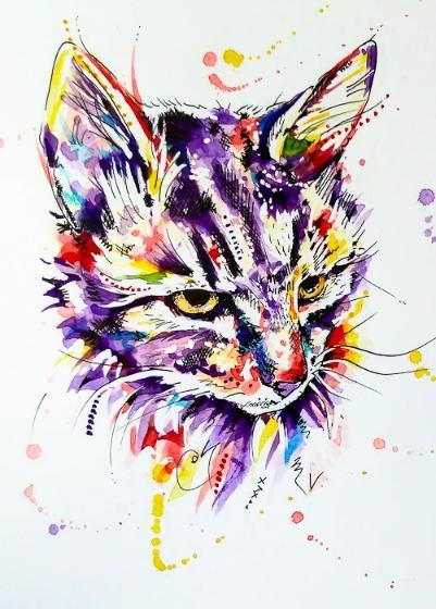 Cat Art Portrait
