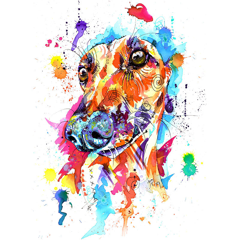 Lurcher Art Print, Lurcher Gifts