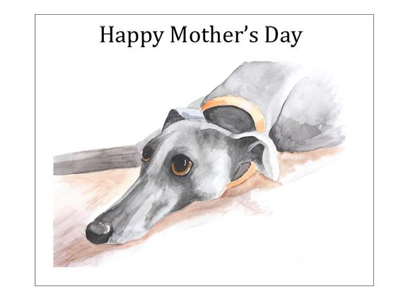 Mothers Day Greyhound Cards
