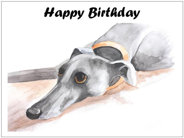 greyhound gift card greyhound birthday card custom text art by mike ramshaw 6462