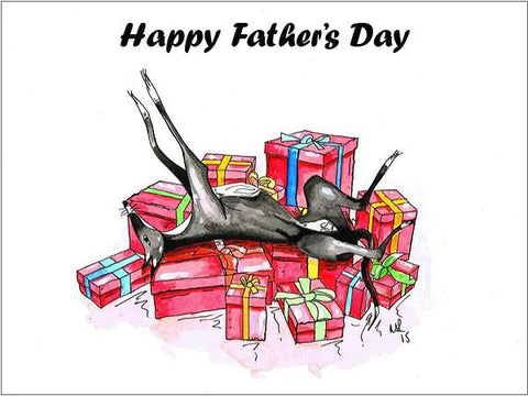 Whippet Fathers Day Cards, Whippet Gift Father's Day