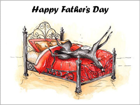 fathers day card lurcher