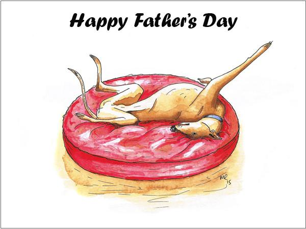 Whippet fathers day cards