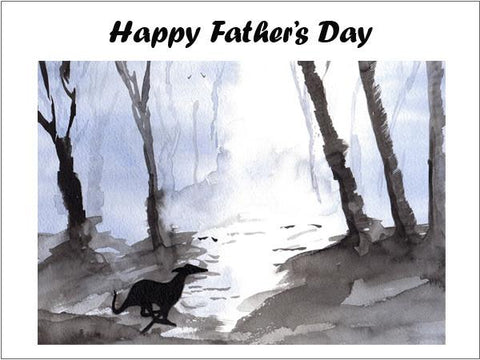 Whippet Greeting Card Father's Day