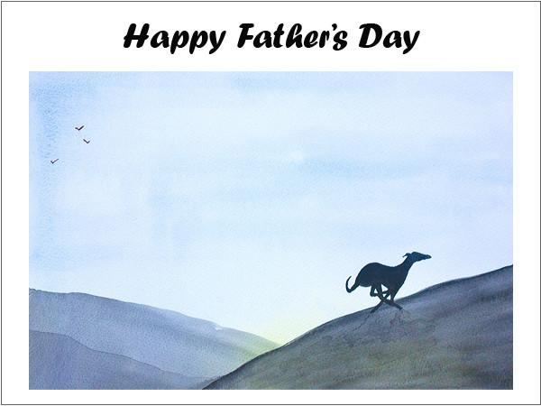 Greyhound Fathers Day Card