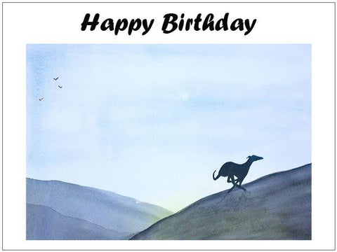 birthday cards Lurcher whippet