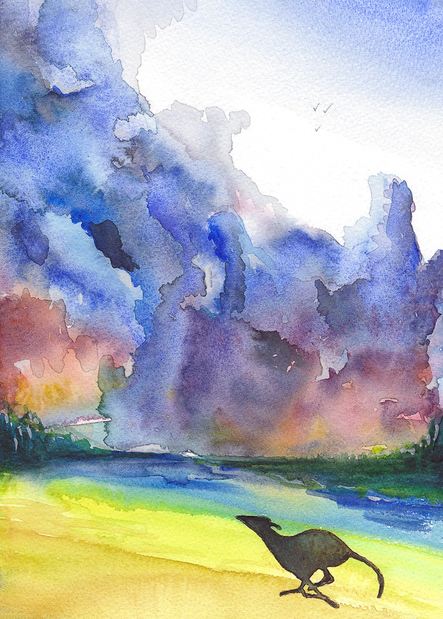 Original Water Colour By Mike Ramshaw