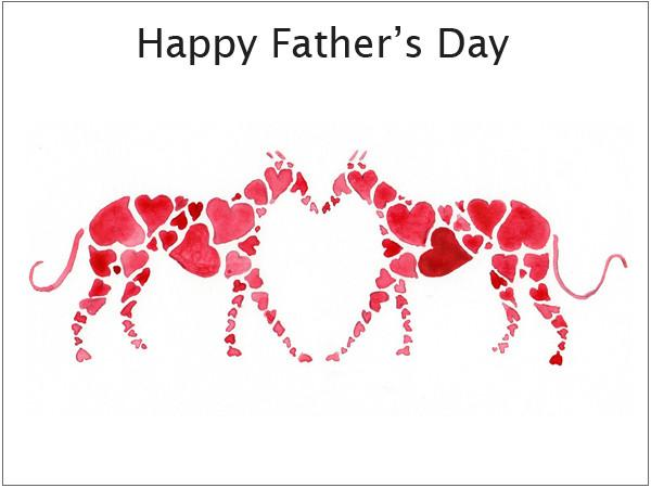 Lurcher fathers day cards