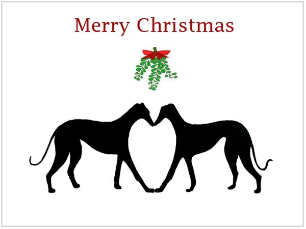 Christmas Cards Greyhound