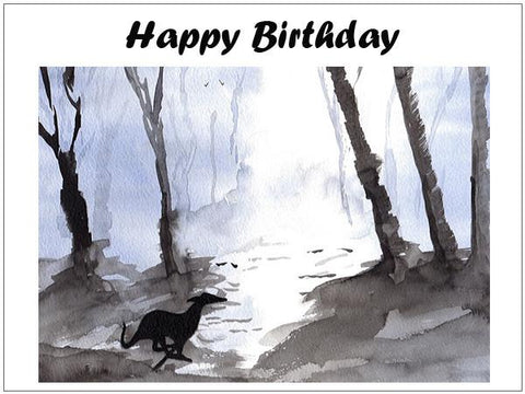Lurcher birthday cards & Gifts