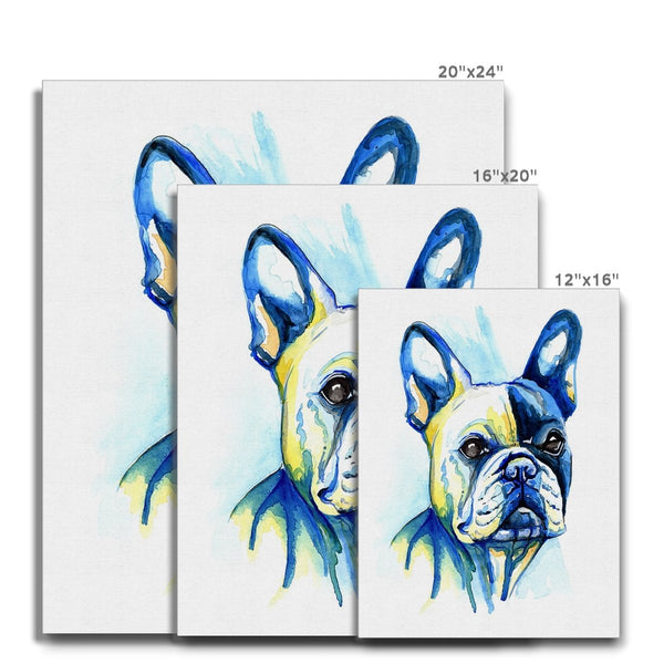 French Bulldog Canvas size guide