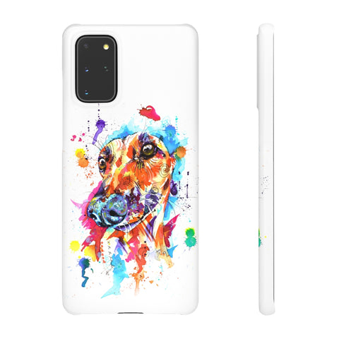 Greyhound Snap Phone Case - 'Lime Light'