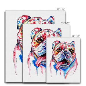 British Bulldog Canvas Painting size guide