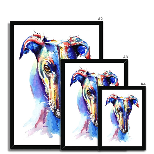 Greyhound Framed Prints size guide