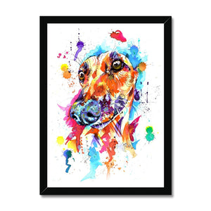 Greyhound Framed Wall Art Print
