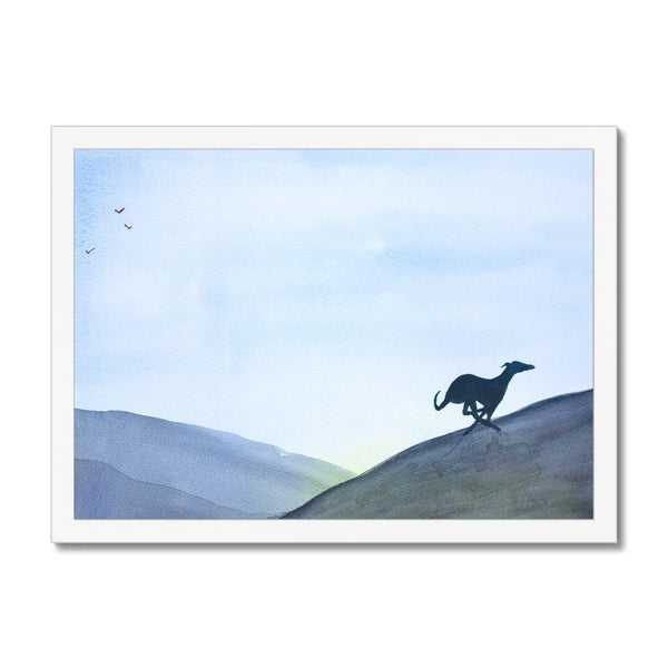 Greyhound Framed Prints - 'Run Free'