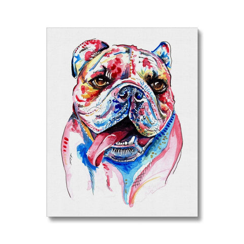 British Bulldog Canvas Painting