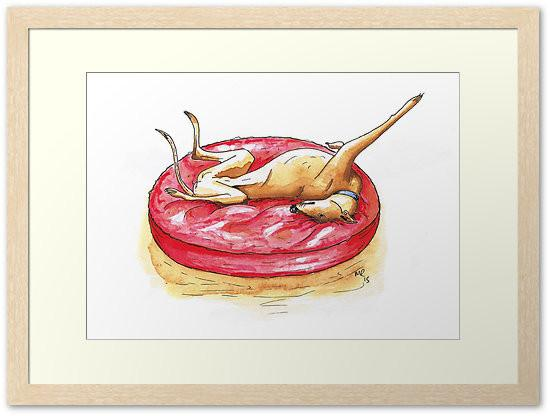 Art prints greyhound
