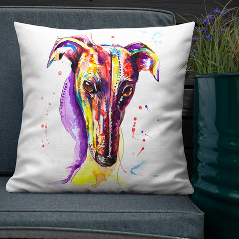 Greyhound, Lurcher & Whippet Cushions - 'Disco'