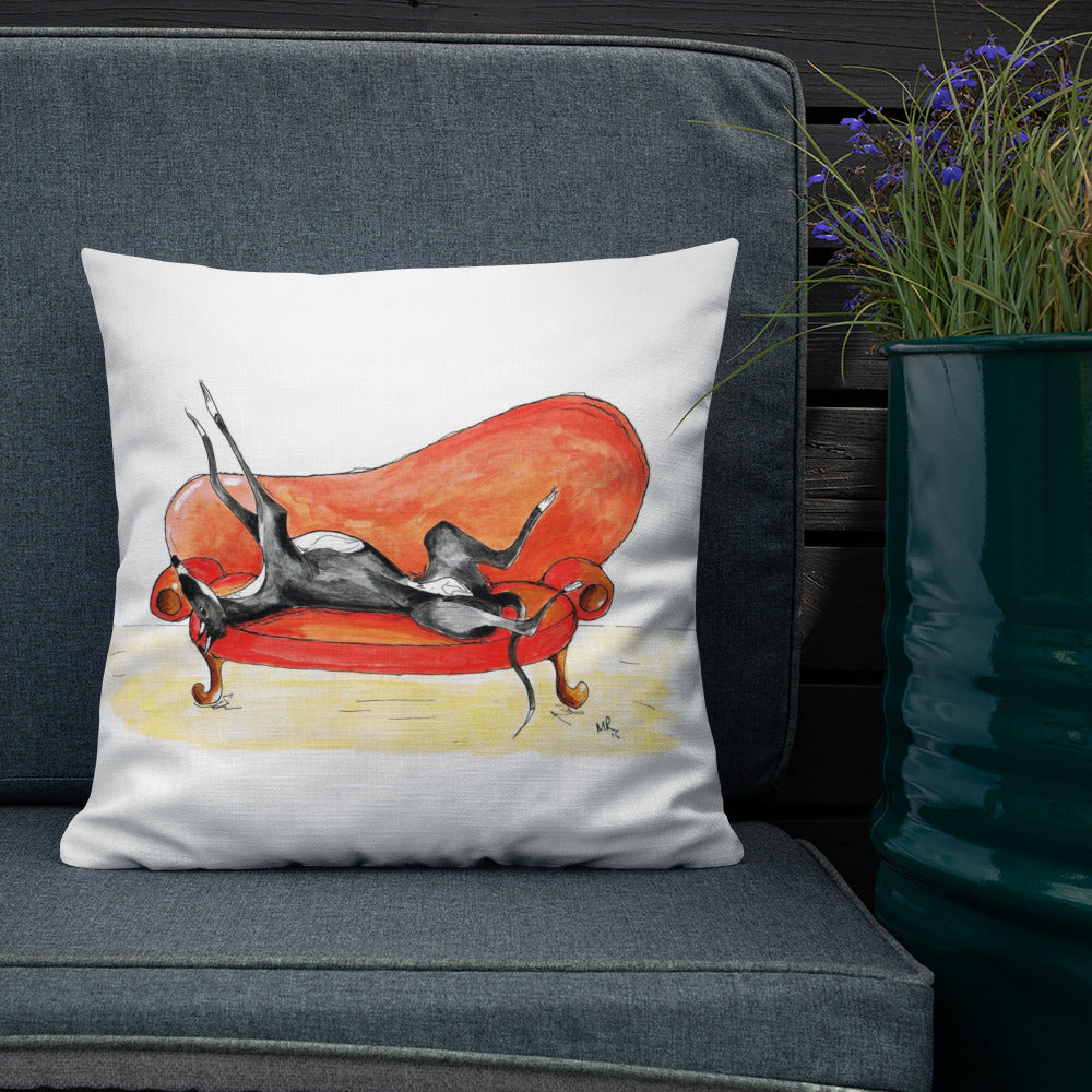 Greyhound, Lurcher & Whippet Cushions - 'Retired to the Sofa'