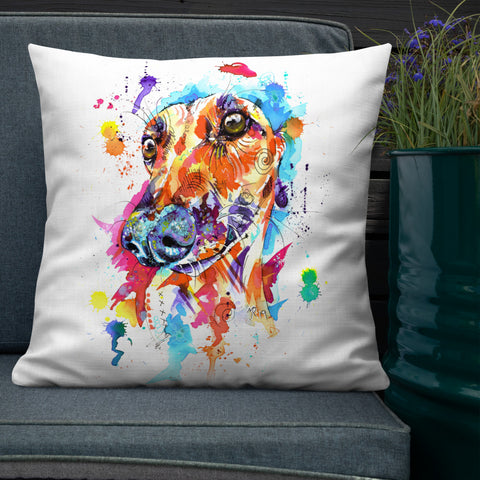 Greyhound, Lurcher & Whippet Cushions - 'Limelight'