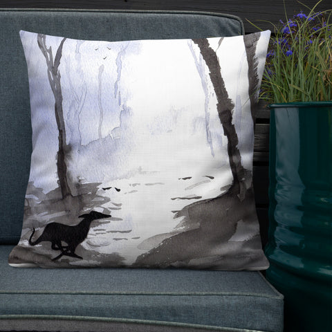 Greyhound, Lurcher & Whippet Cushions - 'Mystical Woods'