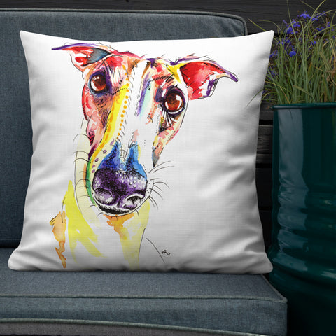 Greyhound, Lurcher & Whippet Cushions - 'Who Said Treats'