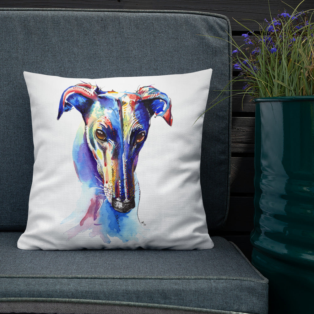 Greyhound, Lurcher & Whippet Cushions - 'Who Could Say No'