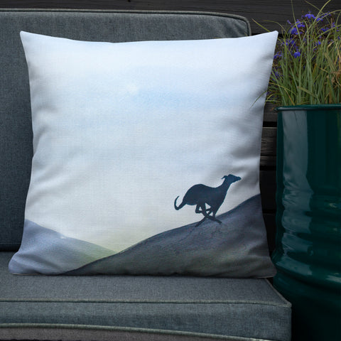 Greyhound, Lurcher & Whippet Cushions - 'Run Free'