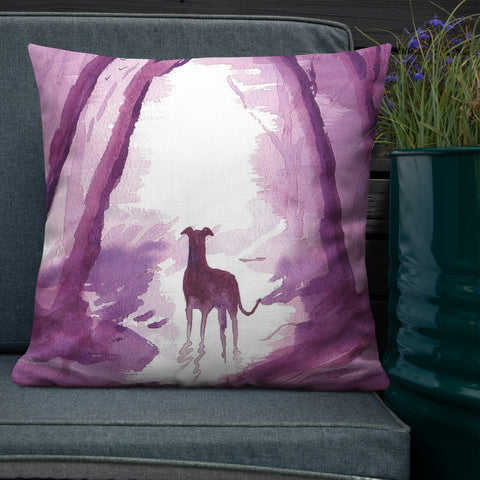 Greyhound, Lurcher & Whippet Cushions - 'Hurry Up!'