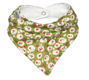 Dapper dribble bib green floral