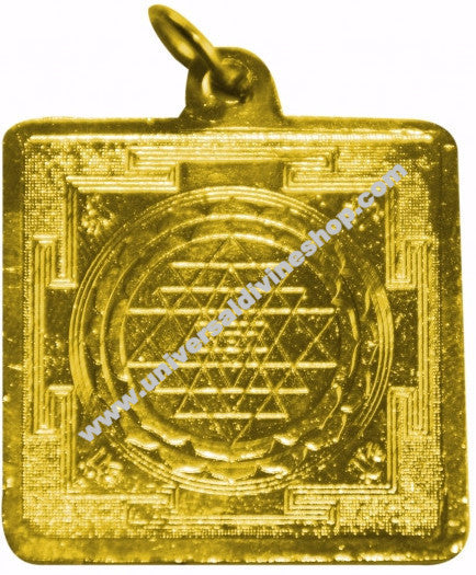 Shri Yantra Locket (Golden Colour)