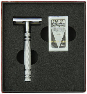 Feather All Stainless Steel Double-Edge Razor, Model AS-D2