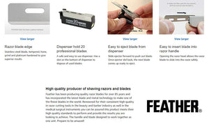 Feather Professional Blades for Artist Club SS Razors