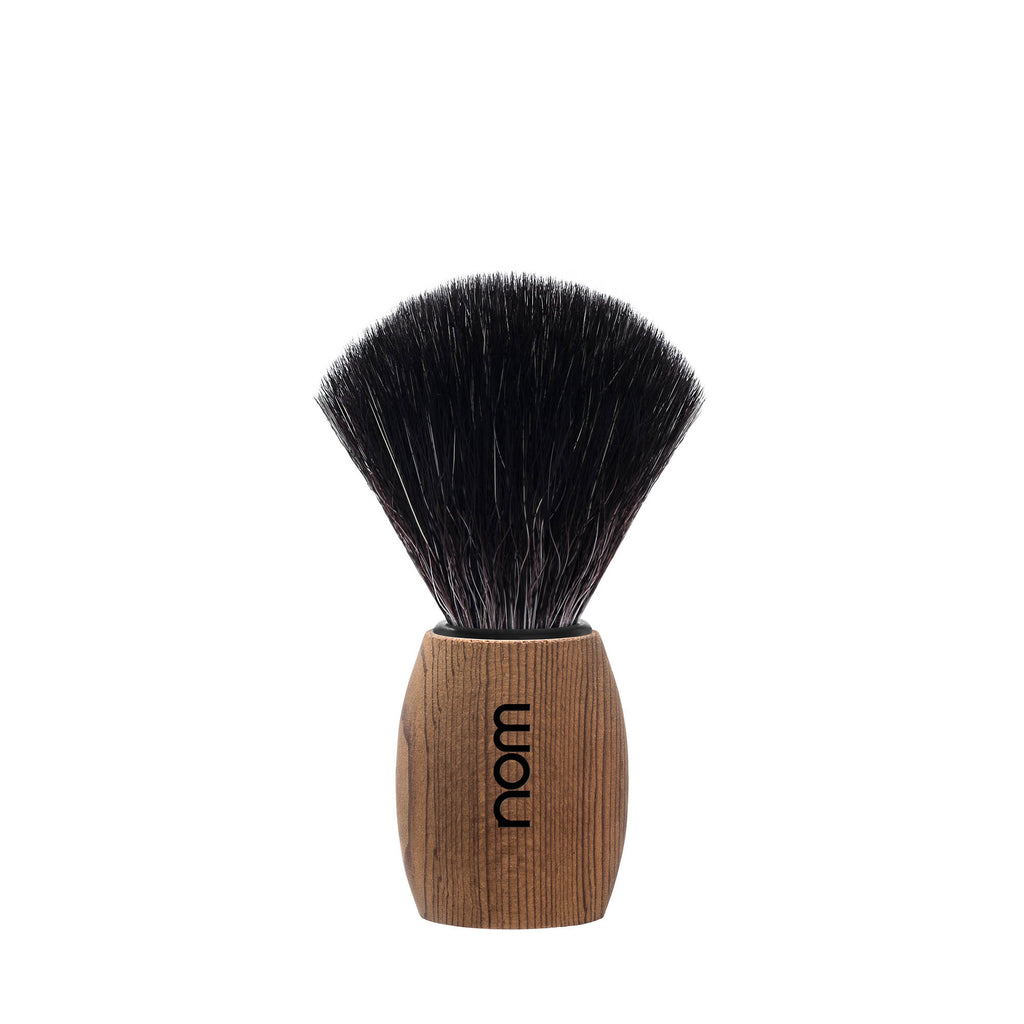 NOM OLE shaving brush, Black Fibre, handle material Pure Ash