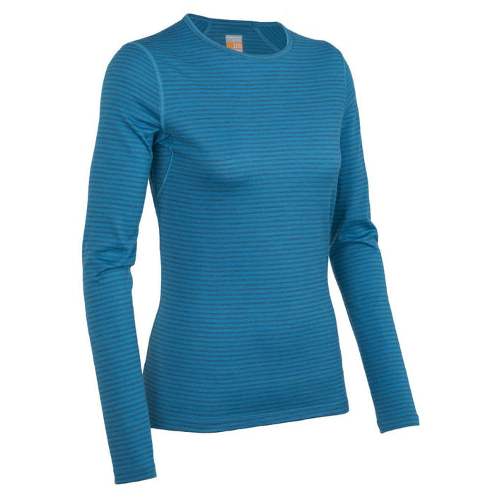 Icebreaker Womens Oasis Long Sleeve Crewe Stripe