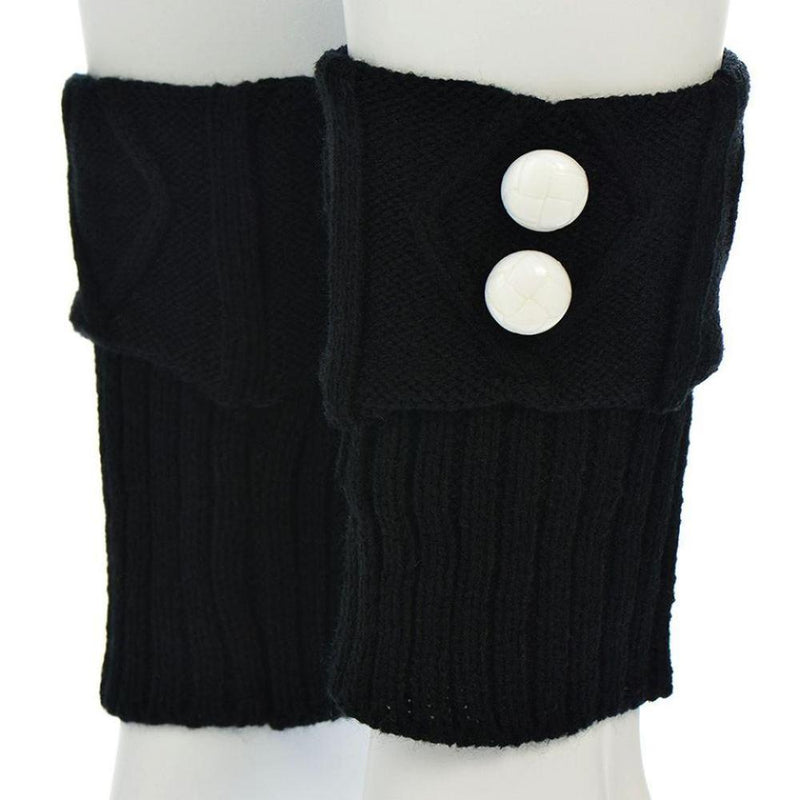 Peek a Boo Boot Cuffs black