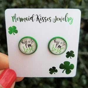 photo stud earrings